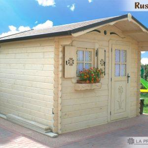 casetta in legno 3x3 con porta finestra