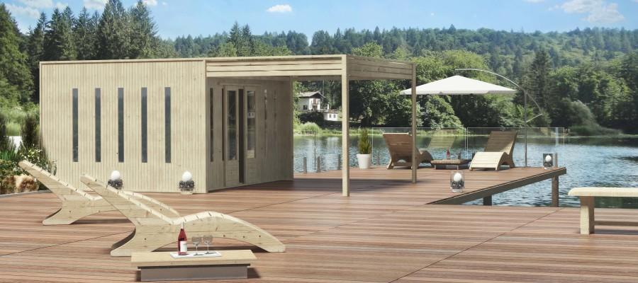 Casetta in legno cubo pontile balneare