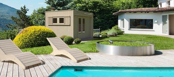 Casetta in legno multifunzionale piscina e giardino la pratolina - Piscine da esterno in legno ...