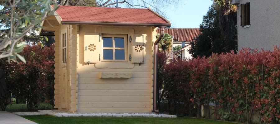 Casetta rustica giardino legno piccola la pratolina for Piccola casetta in legno