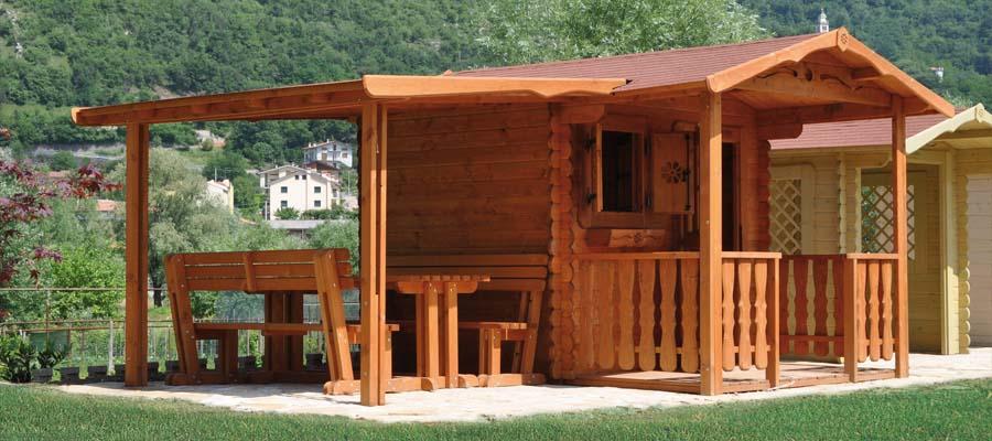 Casetta rustica giardino legno tettoia la pratolina - Tettoia giardino ...