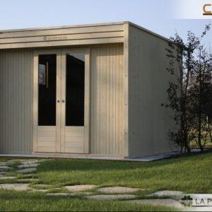 casetta di legno 3x3 moderna