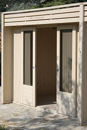 Casetta di legno 3x2 la pratolina - Dettaglio porta scorrevole ...