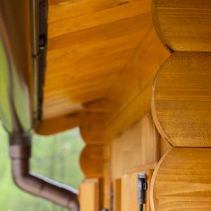 Dettaglio grondaia casetta Rustica