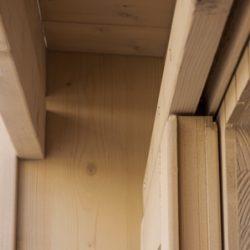 Dettaglio guida superiore porta casetta Cubo