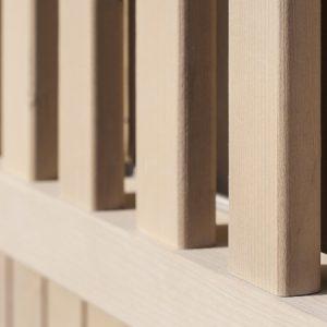 Dettaglio stecche finestra casetta Cubo