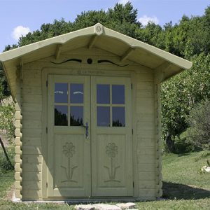 Casetta in legno 2.5×3 con porta doppia