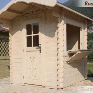 casetta chiosco in legno 200x200 porta bianca