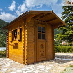 casetta in legno 200×200 porta finestra laterale
