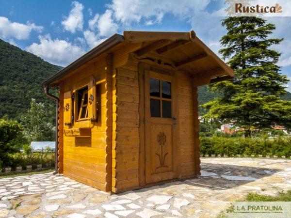casetta in legno 200x200 porta finestra laterale