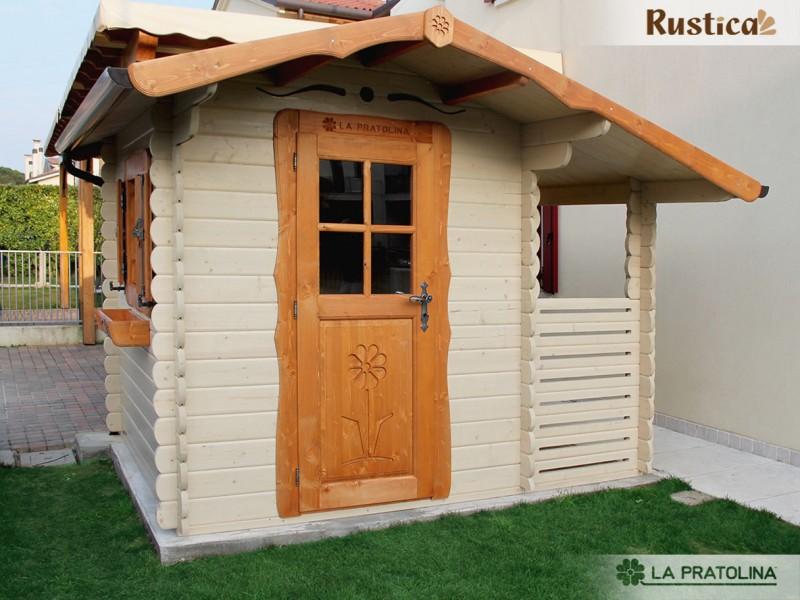 Casetta in legno 200x250 porta finestra laterale colorata con tettoia la pratolina - Porta finestra in legno ...