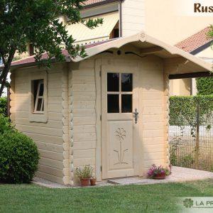casetta in legno 200x250 porta finestra laterale