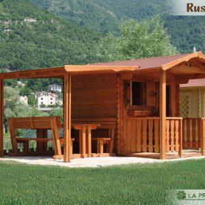 casetta in legno 250x200 con tettoia e veranda
