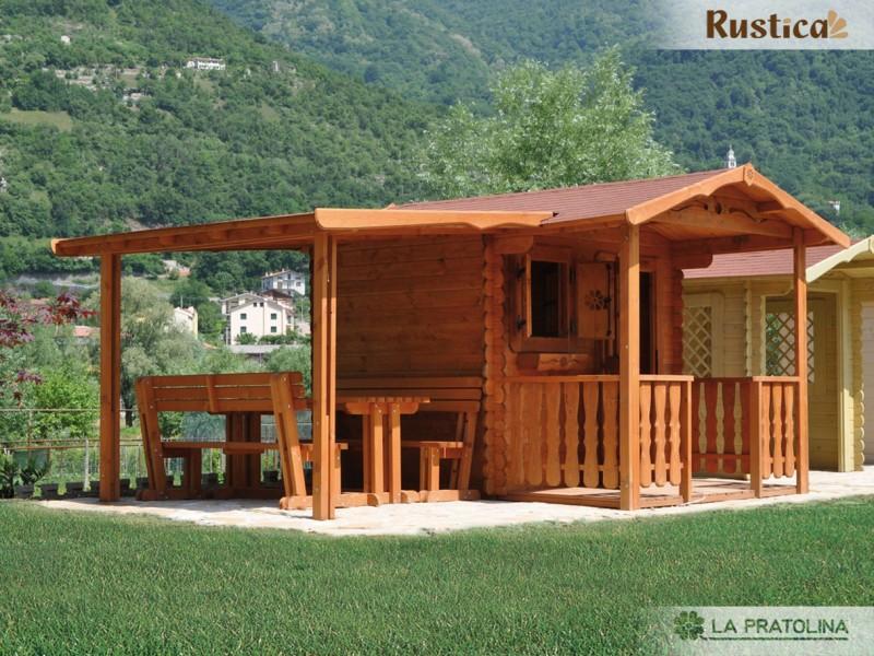 Casette in legno da giardino con tettoia casetta in legno for La pratolina casette