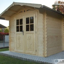 casetta in legno 250×200 porta doppia naturale