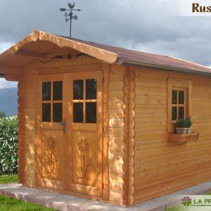 casetta in legno 250x300 porta doppia finestra laterale