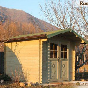 casetta in legno 250x300 porta doppia verde