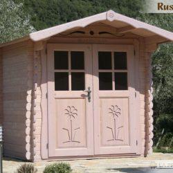 casetta in legno 2×2 porta doppia peppa pig