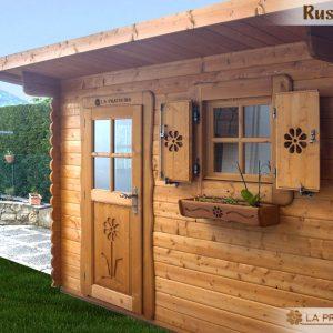 casetta in legno 3x2 porta finestra tetto una falda