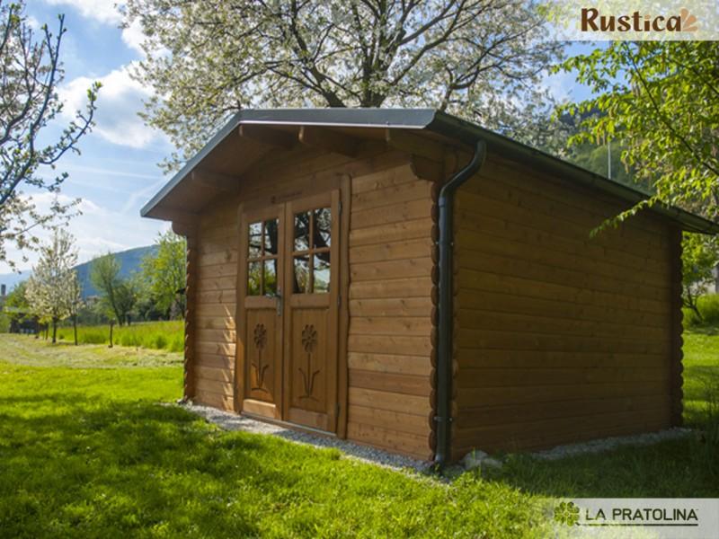 Casetta In Legno Giardino : Casetta in legno rustica