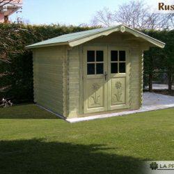 casetta in legno 3×3 porta doppia verde