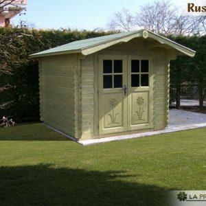 casetta in legno 3x3 porta doppia verde