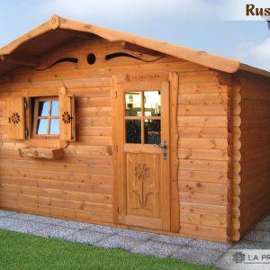 casetta in legno 4x3 porta finestra
