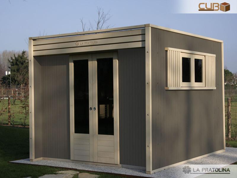 Casetta in legno moderna grigio bianco la pratolina for La pratolina casette
