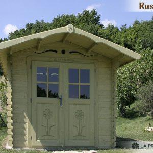casetta in legno porta doppia verde