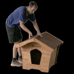 cuccia con tetto in guaina