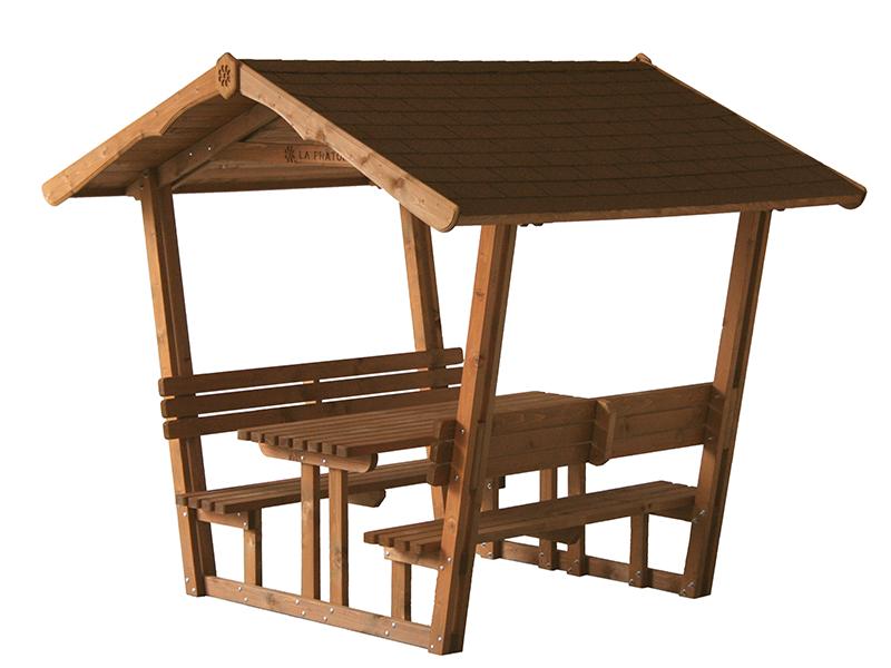 Gazebo con panche e tavolo la pratolina for Gazebo in legno usato