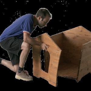 montaggio cuccia per in legno