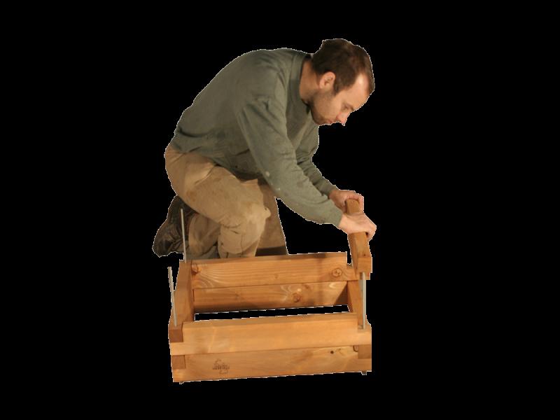 Montaggio fioriera in legno la pratolina for Fioriera legno fai da te