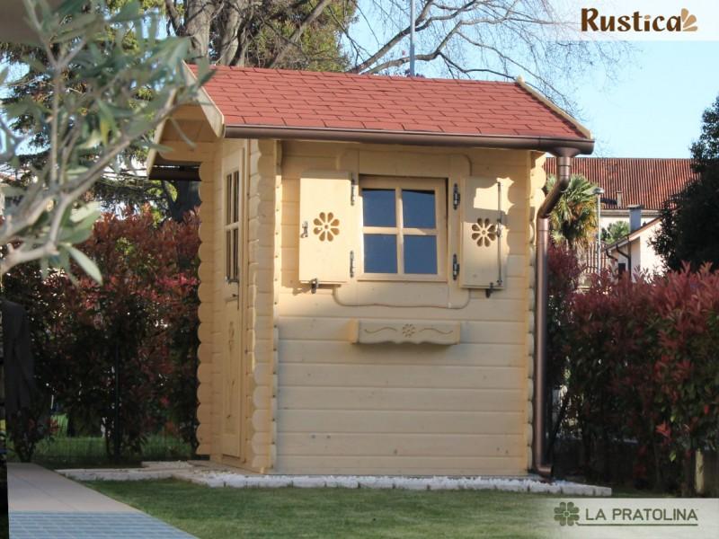Casetta in legno 200x150 porta finestra laterale for Piccola casetta in legno