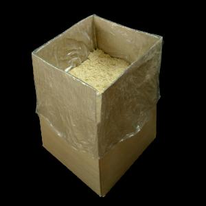 scatola cartone imballo segatura abete