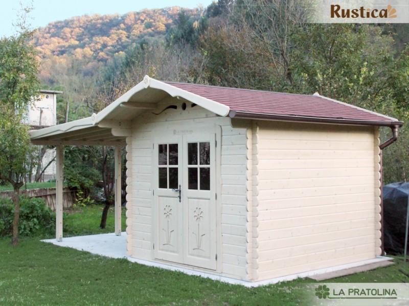 Casetta in legno 3x3 rustica for La pratolina casette