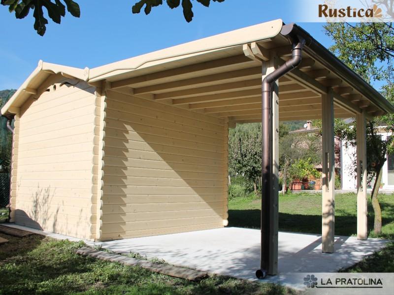 tettoia per casetta in legno Rustica