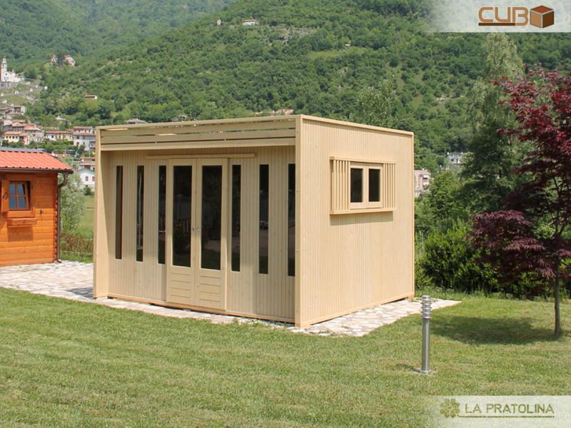 Casetta in legno moderna centro didattico la pratolina