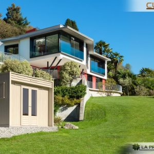 Casetta dal design moderno perfetto per l'architettura contemporanea