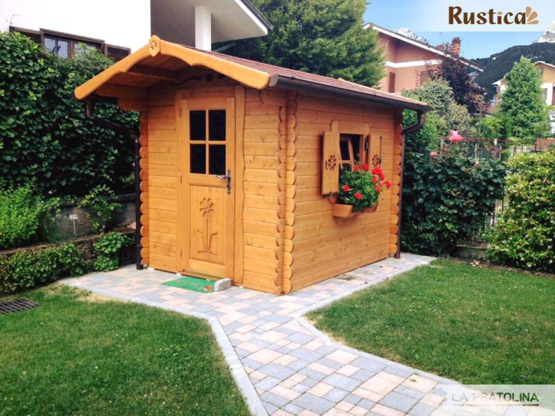 Casetta In Legno Giardino : Casetta in legno con porta doppia e finestra frontale