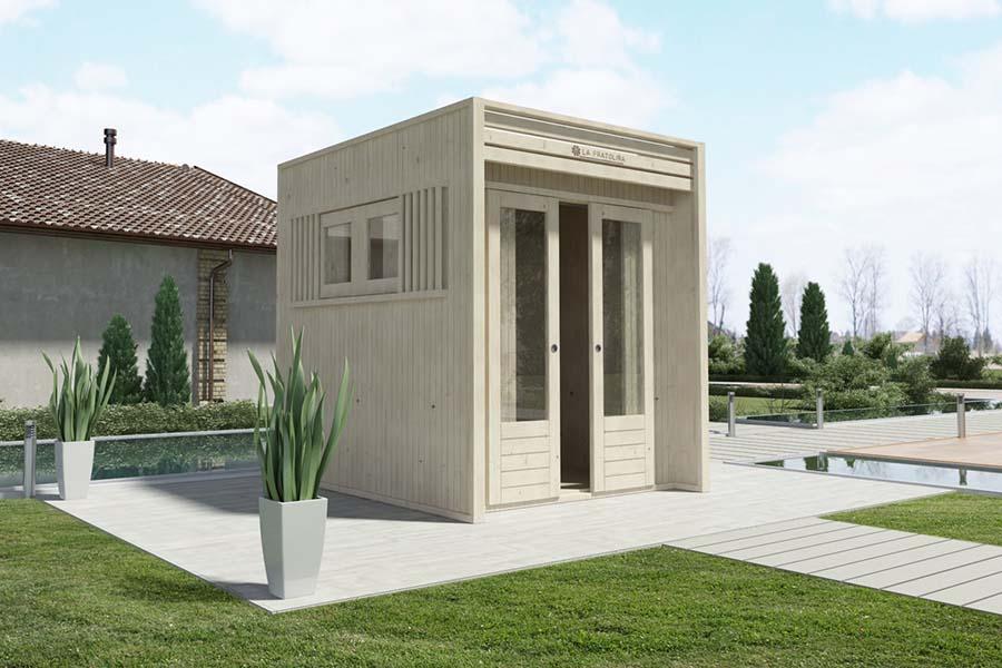 Casetta di legno 2x2 cubo la pratolina - Case di legno da giardino ...