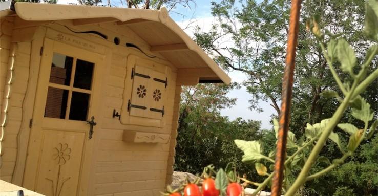 casetta di legno per orto e giardino