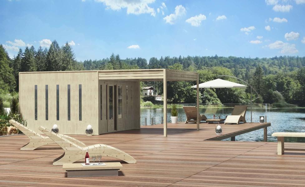 casetta legno cubo pontile balneare