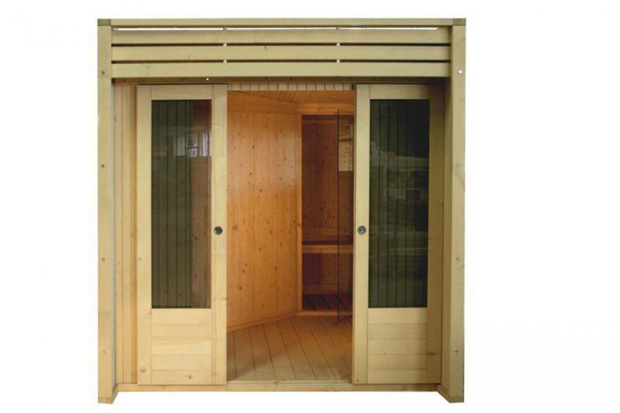 Casetta in legno con sauna finlandese in legno