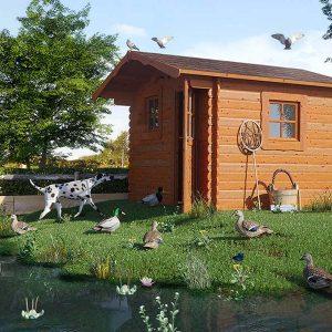 casetta in legno per animali
